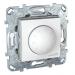 Цены на Диммер светорегулятор поворотный 400W Schneider Electric UNICA белый MGU5.511.18ZD