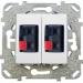 Цены на Аудио розетка двойная Schneider Electric UNICA белая MGU5.8787.18ZD