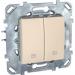 Цены на Выключатель для управления рольставнями Schneider Electric UNICA бежевый MGU5.208.25ZD