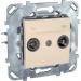 ���� �� ������������� ������� TV - FM Schneider Electric UNICA ������� MGU5.451.25ZD