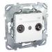 ���� �� ������������� ������� TV - FM Schneider Electric UNICA ����� MGU5.451.18ZD