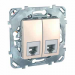 Цены на Телефонная розетка 4 контакта Schneider Electric UNICA бежевая MGU5.9090.25ZD