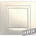 Цены на Рамка 3 поста с декоративным элементом Schneider Electric UNICA бежевая MGU2.006.25