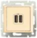 Цены на Розетка 2 - ая USB зарядка 1500мA Legrand Valena слоновая кость 774170