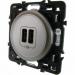 Цены на Лицевая панель для зарядного устройства 2 х USB 1500 мА Legrand Celiane Легранд Селиан титан 68556
