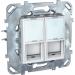 ���� �� ������������ ������� � ����� ��� ������� Schneider Electric UNICA 2xRJ45 ����� � ���.6 ����� MGU5.2424.18ZD