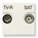 ���� �� ������������� ������� TV - R - SAT ABB Niessen Zenit ��������� � ��������� ���������� ����� N2251.3 BL