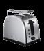 Цены на Russell Hobbs Russell Hobbs 21290 - 56 Тостер Мощность 1300 Вт Механическое управление 2 отделения 6 режимов поджаривания Решетка для разогрева Экстра широкие слоты Функция центрирования Функция разморозки и отмены программы