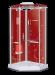 Цены на Душевая кабина LanMeng (ЛанМенг) LM857 R пятиугольная,   с низким поддоном,   стеклянная,   размер 110х85 см,   правая 110х85х219 см Стиль «хай тек»,   цветная подсветка,   мощное ударопрочное стекло 8 мм,   стеклянная крыша,   эргономичная пяти угольная форма,   надежный
