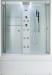 Цены на Душевая кабина Timo (Тимо) Lux TL - 1506 прямоугольная с ванной с глубоким поддоном (высокая),   стеклянная размер 168х90 см 168х90х220 см 100% акрил,   европейское качество,   сенсорный пульт управления,   эргономичное откидное сиденье,   надежные двойные ролики. Ti