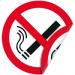 """Цены на Запрещающая двухсторонняя наклейка """"Курение запрещено"""" Наклейка 150 мм (Курение запрещено двухсторонняя) Используется на участках,   где имеются горючие и легковоспламеняющиеся вещества ,  а так же в помещениях где курение запрещено;  С одной из сторон нанесен"""