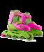 Цены на Ролики раздвижные размер 31 - 34 Детские раздвижные Ролики выполнены в ярком розово  -  зеленом цвете привлекут внимание девочки и станут прекрасным подарком для ребенка на любой праздник