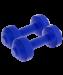 Цены на Гантели пластиковые европодвес 0,  5 кг,   пара,   синяя so - 0006148