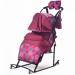 Цены на Санки - коляска Kristy Comfort Plus 3В  +  ВК бордо/ круги