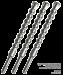 Цены на Projahn Бур SDS plus ZENTPO 28x450 мм особая симметричная конструкция головки резца DON ZENTRO,   состоящая из одной основной и двух боковых твердосплавных режущих кромок,   направляет бур по центру отверстия,   продлевает срок службы инструмента за счет уменьш