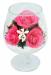 Цены на Цветы в стекле: Композиция из розовых роз Данная композиция состоит из натуральных роз,   обезвоженных по специальной технологии,   которая даёт возможность цветам сохранять свой свежий вид на несколько лет,   в среднем 6. В течение этого времени вы сможете люб