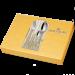 Цены на Столовые приборы Hoffburg HB - 2460 Monaco Подарочный,   оригинальный и просто красивый набор столовых приборов от HoFFburg на 6 персон из 24х предметов. Прекрасный подарок и нужная вещь на вашей кухне. В комплекте вы найдете: 6 столовых ножей,   6 столовых вил