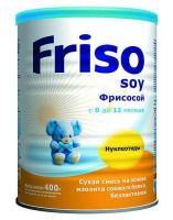 Фото Friso Смесь Фрисосой с нуклеотидами, 400 г