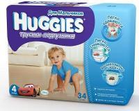 Huggies Трусики для мальчиков 4 (34 шт.)