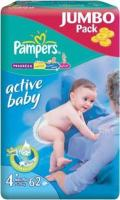 Pampers Active Baby Maxi Plus 4+ (62 шт.)