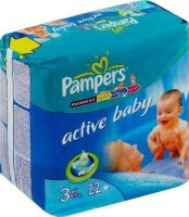 Pampers Active Baby Midi 3 (22 шт.)