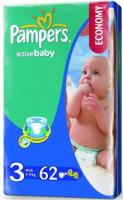 Pampers Active Baby Midi 3 (62 шт.)