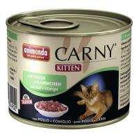Animonda Carny Kitten (курица, кролик) для котят 200 г