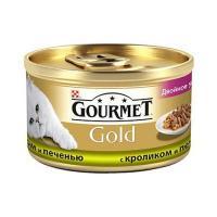 Gourmet Gold с кроликом и печенью 0,085 кг