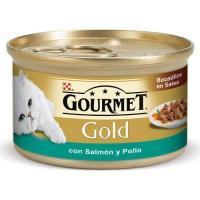 Gourmet Gold с лососем и цыпленком 0,085 кг