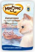 МНЯМС Влажный корм для кошек Катаплана по-португальски (куриное филе с форелью) 0,085 кг