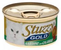 Stuzzy Gold консервы для кошек кусочки сардин с кальмарами в собственном соку 85 гр