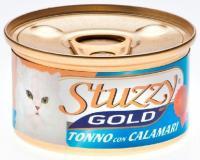 Stuzzy Gold консервы для кошек кусочки тунца с кальмарами в собственном соку 85 гр